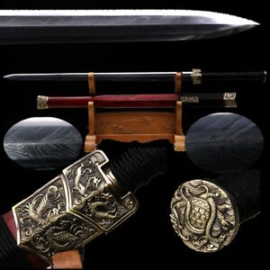 Highest Rosewood Moving Cloud Sword Rotary Feather Grain Pattern Steel #3708