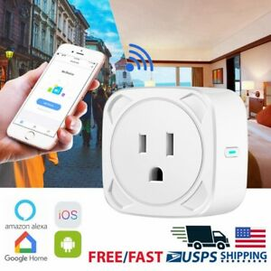 Mini WIFI Smart Plug Outlet Socket Phone APP Remote Control Home Power Switch US
