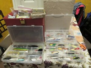 Large Lot of Vintage Fishing Lures over 50 21 Rapala plus tackle