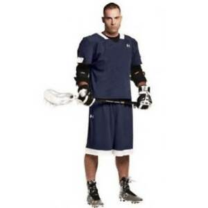 NEW - UNDER ARMOUR Men's TOLI STOCK ULS540M Navy  White LACROSSE SHORTS - XL