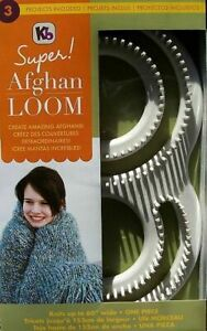 Super Afghan Loom Knit Up To 60quot; Afghan In One Piece Knitting Board