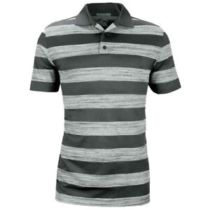 NEW UNDER ARMOUR SKYBALL TONAL STRIPE GOLF POLO STEALTH GREY LARGE