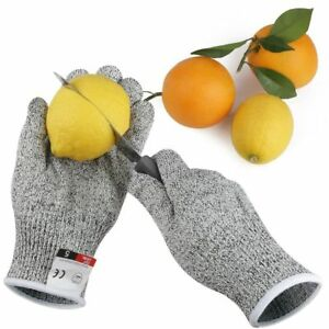 1Pair Cut Resistant Gloves Hppe Anti-Cut Glove Working Gloves Protective Finger
