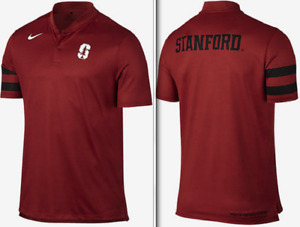 Nike Dri Fit Stanford Elite Tour Golf Pack Transition Blade Polo shirt NCAA men