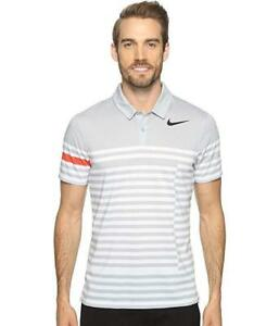 Nike Golf Modern Fit Transition Dry Stripe SMALL Polo Shirt 833081-012 NWT $80