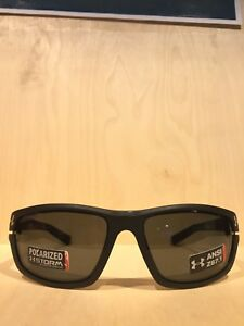 Under Armour Hook'd Satin Black Glasses with Gray Storm Polarized Lenses