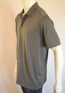 NIKE  STANDARD FIT Dry Fit  SHIRT POLO Men's SZ LARGE in 021 GRAY