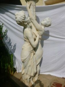 Antique Statue of French White Marble Circa 18th Century