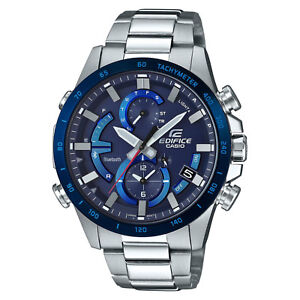 Casio EDIFICE EQB900DB-2A Smartphone Link Solar Power Stainless Steel Mens Watch