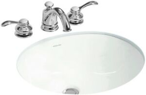 17 in. x 13 in. Bathroom Sink Under-Mount Vitreous China Overflow Drain White