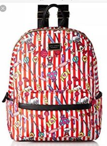 NEW Betsey Johnson CANDY LANE Red White Gumball Backpack or Diaper Bag MSRP $98