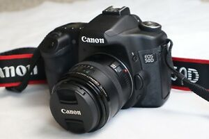 Canon EOS 50D DSLR Camera with 50mm macro lens