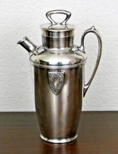 Wallace 1920 - 1930's Silverplate Cocktail Shaker Pitcher Silverplate - 64 ounce
