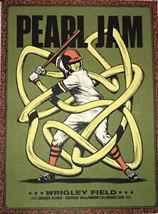 Pearl Jam Chicago Wrigley Field Poster 2018 Aug. 18th & 20th Andrew Fairclough