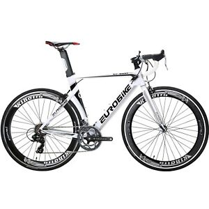 Racing Road Bike 700C Wheels Shimano 14 Speed Mens Bicycle Aluminium BikeS 54cm