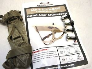 NEW OPS-CORE MADE W KEVLAR HELMET CHINSTRAP ECH ACH COYOTE BROWN SMLXL