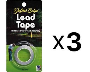 Unique Golf Lead Weight Tape For Putter & Club Golfer Accessory (3-Pack)