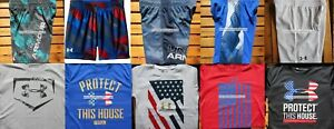 UNDER ARMOUR BOYS YOUTH SIZE 6 ~ SHORTS ~ TOPS ~ SUMMER 10PC ~BRAND NEW $210