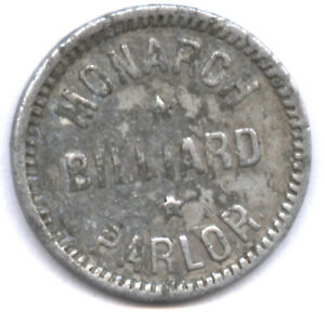 MONARCH BILLIARD PARLOR * GOOD FOR 2 12 CENTS * NO PIX IN ONLINE CATALOG !!