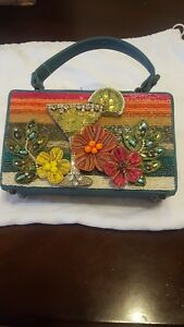 Mary Frances Designer Hand Beaded Beach Party Handbag Clutch