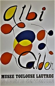 ALEXANDER CALDER Musee Toulouse Lautrec Lithograph Poster SEAL
