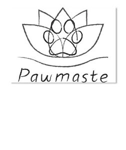 Yoga And Dog Lovers Pawmaste Sticker Landscape