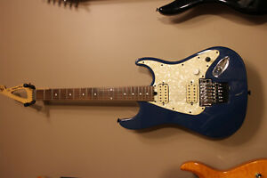Floyd Rose Discovery Speedloader tremelo w guitar madness hexbuckers blue