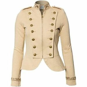 Ralph Lauren Denim Supply Women Military USA Army Officer Band Jacket Embroidery