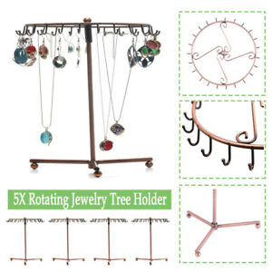 5PACK 360 dgree Rotating necklace and bracelet tree Jewelry Display Stand US HO