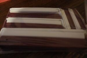 Pampered Chef Twixit Clip Set Item #2651 Cranberry & white Pack of 10