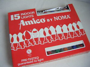 AMICO by NOMA Vintage 15 Light Indoor Christmas Light Set C7.5