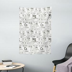 Periodic Table Tapestry School Life Kids Print Wall Hanging Decor