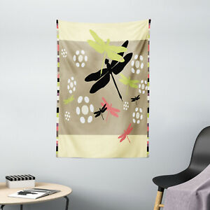 Dragonfly Tapestry Botanical Growth Kids Print Wall Hanging Decor