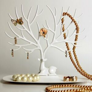 JEWELRY DISPLAY STAND Earring Holder Organizer Necklace Ring Rack Hanger Tree