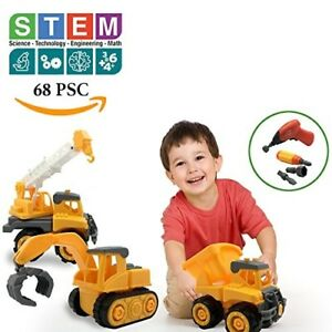 Educational STEM Toys for Boys Girls Toddlers Tractor Toy Construction Set