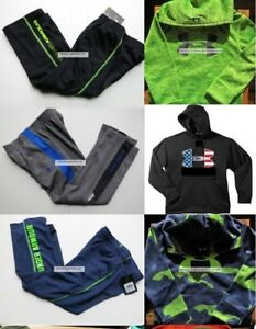 BOYS 4T UNDER ARMOUR TRACK PANTS ~ Size 4 HOODIE SWEATSHIRTS ~ 6PC $200 NWT