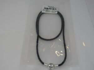 New Pandora Small Black Triple Leather 52.5 CM 20.7 in Bracelet 590705CBK-T1