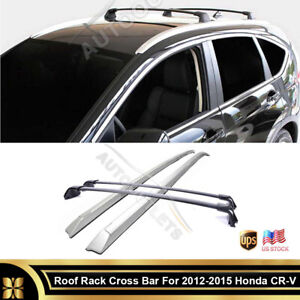 For 2012-2015 Honda CRV Genuine OEM Roof Rack Aluminum Cross Bars ABS Side Rails