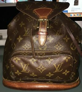 AUTHENTIC Louis Vuitton Monogram Montsouris Backpack PM in good condition