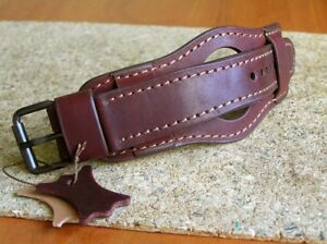 MILITARY WATCH STRAP GENUINE LEATHER CUFF BRACELET BAND 22mm BORDO for SKELETON