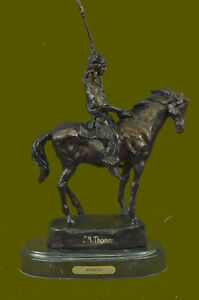 Indian Chief Bronze Sculpture Native Real Artwork Figurine Figure Statue SALE