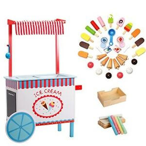 Svan Ice Cream Cart Real Wood Construction with Money Box Chalkboard