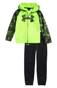 Under Armour Boy's Utility Hoodie & Pants Set Quirky Lime Youth Size 5 NEW
