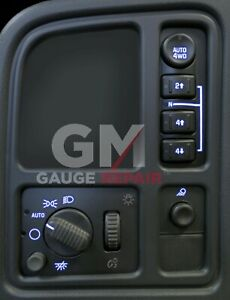 Left Dash Switches 4WD bulb to Blue LED Upgrade Kit for GM Trucks SUVs 2003 06 $28.99