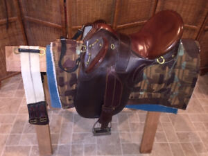 Used Australian Brown Saddle - Good Condition & Refurbished with New Stitching