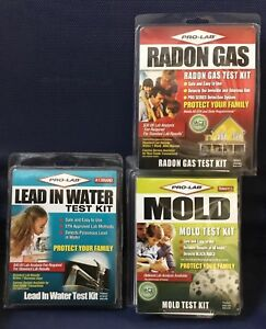 Pro-Lab At Home Test Kits - Mold - Lead In Water - Radon Gas- All 3! NEW!