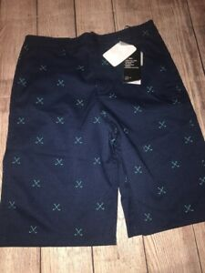 Under Armour Youth Boys Size 18 Golf Dress Shorts Navy NEW