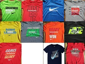 BOYS NIKE SIZE 4 ~ DRI-FIT TOPS ~ T-SHIRTS ~ 11 BRAND NEW AUTHENTIC NIKE $220