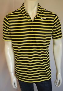 NIKE GOLF STANDARD Fit Dry Fit  SHIRT POLO Men's SZ MEDIUM in 358 YELLOW