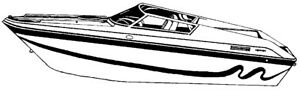 7oz STYLED TO FIT BOAT COVER SPEED PERFORMANCE STYLE BOAT 41'6